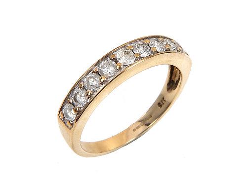 9ct Yellow Gold Half Eternity Ring 0.27ct