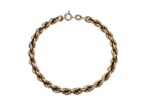 9ct Gold Rope Bracelet 6.2g