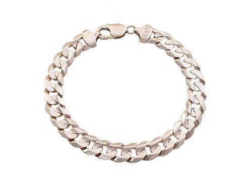 9ct Yellow Gold Curb Bracelet 24.5g