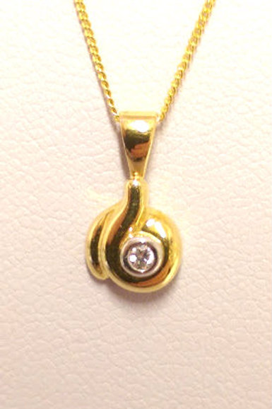 18ct gold & diamond solitaire necklace
