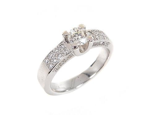 18ct White Gold Diamond Ring 0.70ct