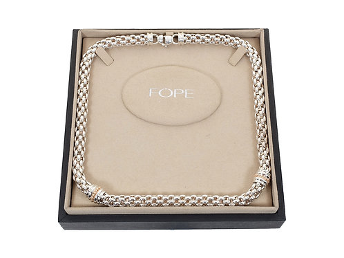 Fope 18ct Rose Gold & Silver Star Necklace