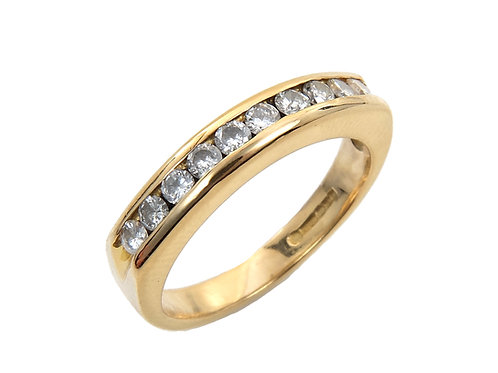 18ct Yellow Gold Diamond Half Eternity Ring 0.30ct
