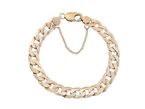 10ct Gold Curb Bracelet 25.6g