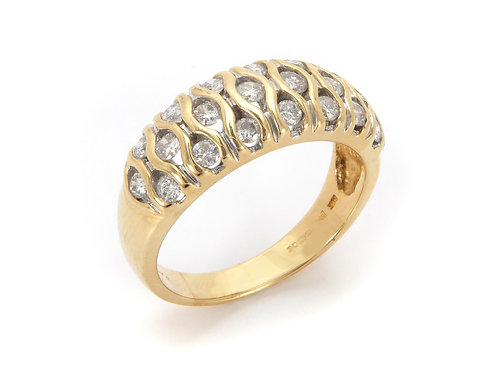 18ct Yellow Gold Diamond Cluster Ring 0.75ct.
