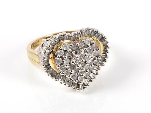 18ct Yellow Gold Diamond Heart Ring 1.50ct