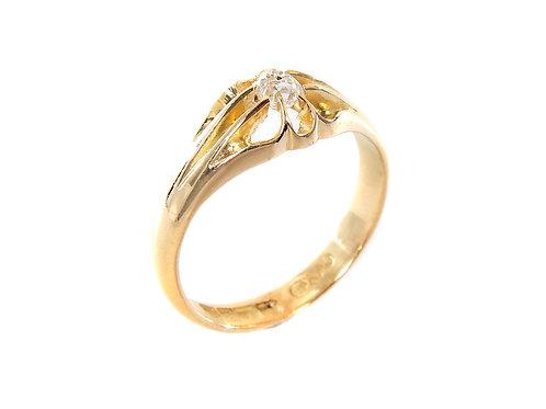Antique Diamond Solitaire Ring 0.25ct Birmingham 1918c