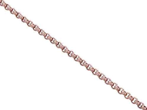 9ct RoseGold Plain Belcher Chain 10g