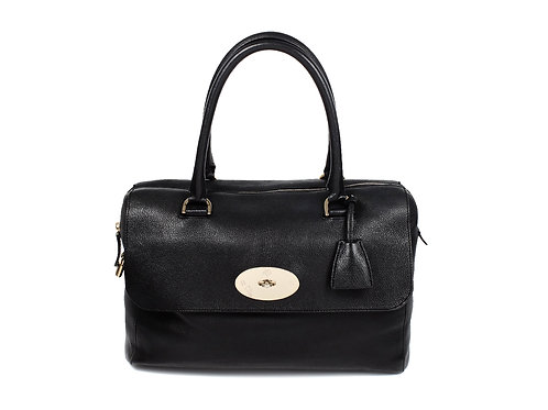Mulberry Del Ray Bag in Black Glossy Goat Leather