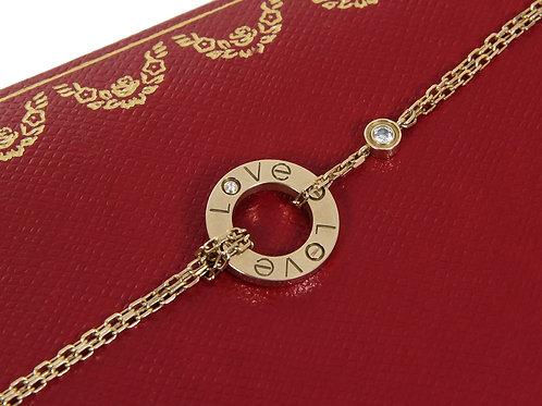 Cartier 18ct Gold Love Bracelet with Diamonds