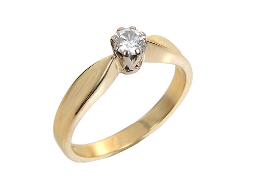 Vintage 18ct Yellow Gold Diamond Solitaire Ring 0.18ct