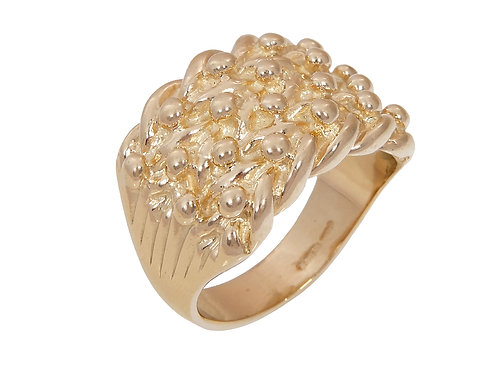 9ct Gold Keeper Ring 13.1g