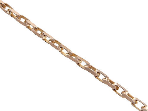 9ct Gold Squared Link Chain 22.9g