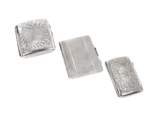 Sterling Silver Cigarette Cases