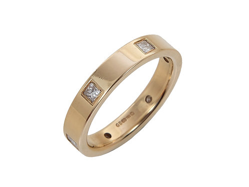 18ct Yellow Gold Princess Cut Diamond eternity Ring 0.30ct