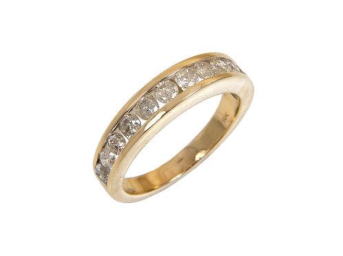 18ct Yellow Gold Diamond Eternity Ring 3rd of a Carat