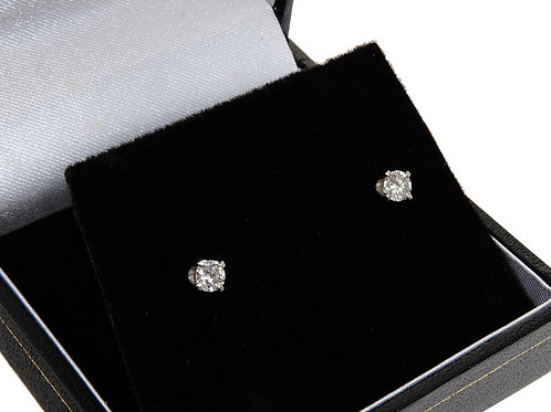 14ct White Gold Diamond Solitaire Earrings 0.44ct