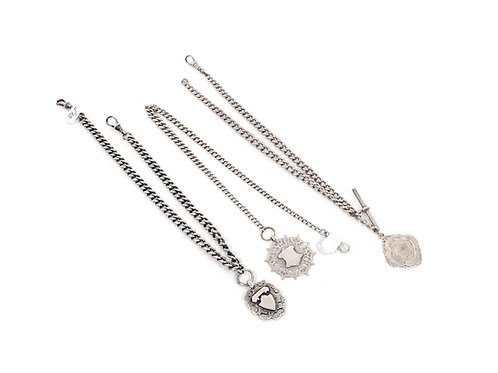 Sterling Silver Albert Chains and Fobs