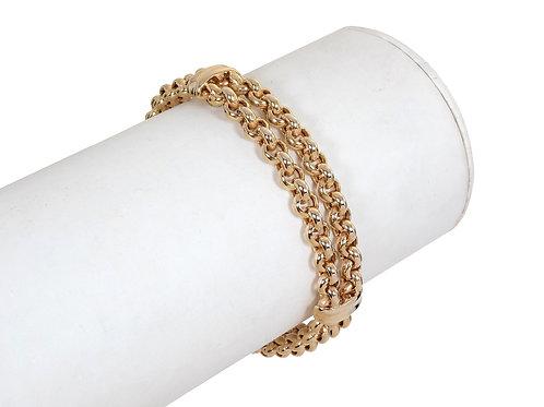 9ct Gold Fancy Link Bracelet 16g