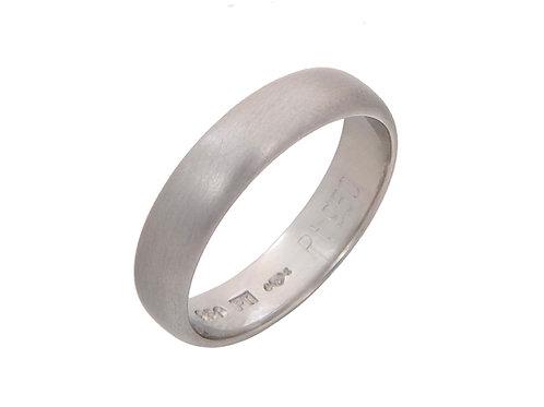 Platinum Wedding Band 4.4mm Uk Size M.1/2