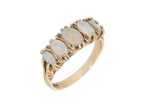 Vintage 9ct Yellow Gold Opal Ring