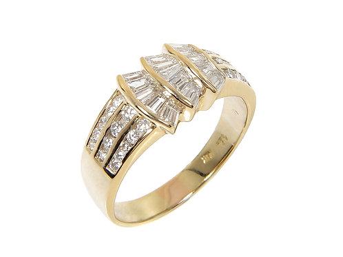 18ct Yellow Gold Diamond Ring 0.85ct