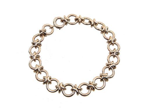 9ct Yellow Gold Circle Link Bracelet 22.4g
