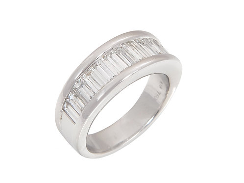 18ct White Gold Diamond Half Eternity Ring 1.75ct