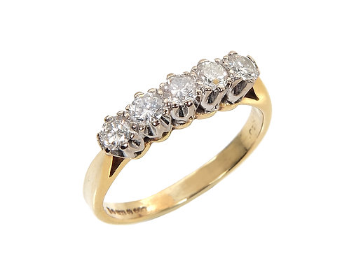 Vintage 18ct Yellow Gold Diamond Ring  0.40ct