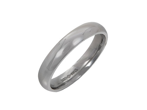 Platinum Gents Wedding Ring Uk Size R Width 4mm
