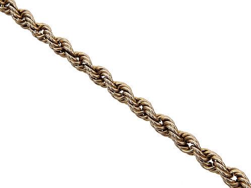9ct Yellow Gold Rope Chain 9.2g