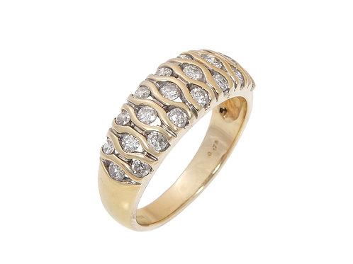 18ct Yellow Gold Diamond Ring 0.75ct