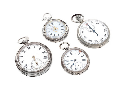 Sterling Silver Pocket Watches