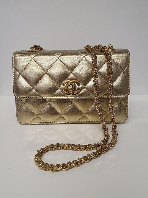 Chanel Mini Gold Flap Bag