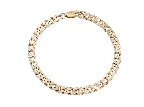 9ct Gold Curb Bracelet 22.4g