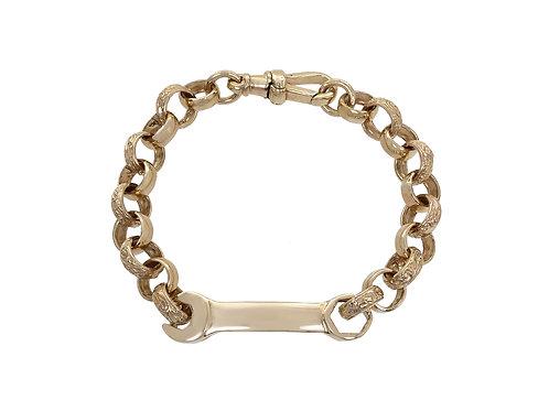 9ct Gold Children's Spanner Bracelet 17.8g