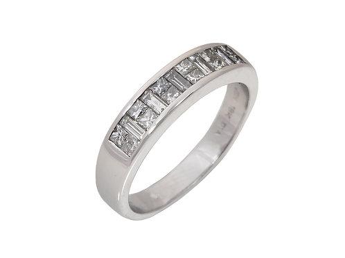 18ct White Gold Diamond Half  Eternity Ring 0.34ct