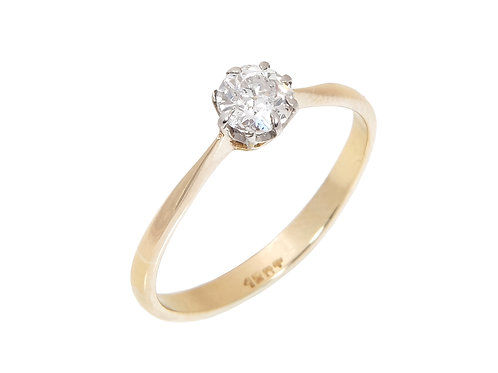 Vintage 18ct Yellow Gold Diamond Solitaire Ring 0.60ct
