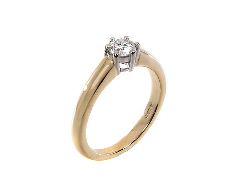 18ct Yellow Gold Diamond Solitaire Ring 0.30ct