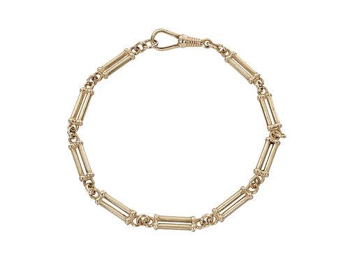9ct Gold Bar and Link Bracelet 12.1g
