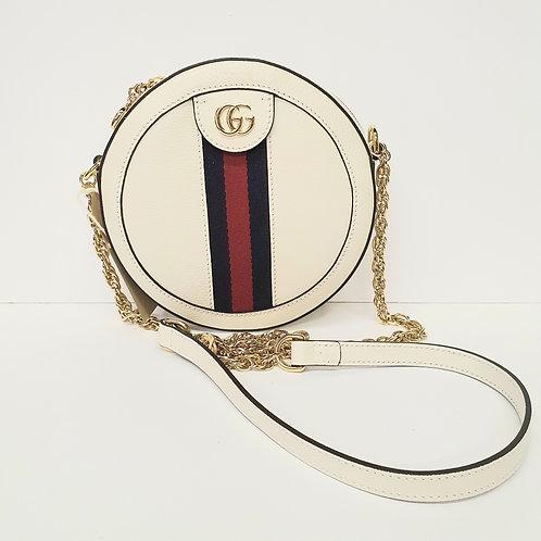 Gucci Ophidia Round Crossbody Bag in Cream