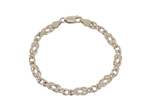 9ct Yellow Gold Celtic Link Bracelet 8.3g