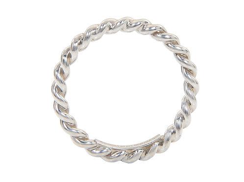 Tiffany & Co Silver Twist Stacking Ring Uk J