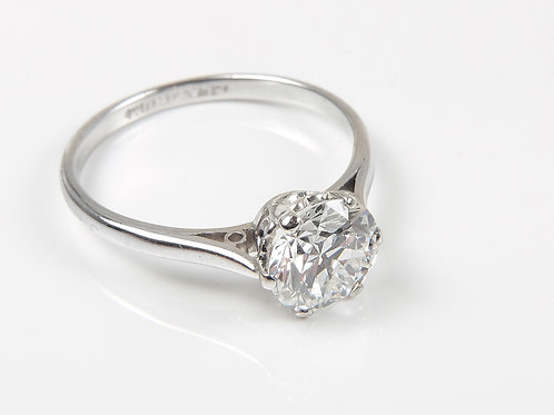 Platinum Diamond Solitaire Ring 1.25ct