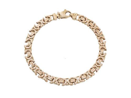 9ct Gold Byzantine Bracelet 13.3g