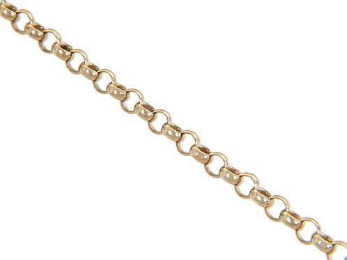 9ct Gold Plain Belcher Chain 11.7g