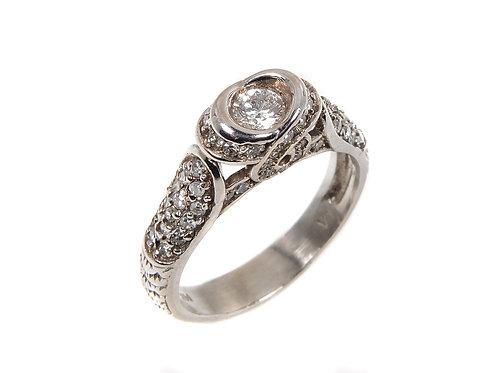14k white gold diamond ring 0.50ct