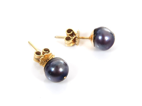18ct Yellow Gold Tahitian Pearl Earrings
