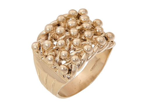 9ct Gold Keeper Ring 13.6g