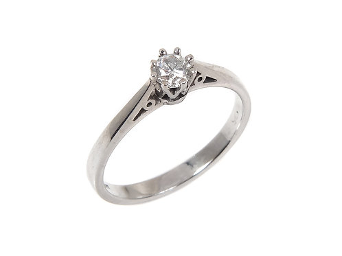 18ct White Gold Diamond Solitaire Ring 0.25ct